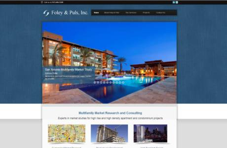 Foley & Puls website home page