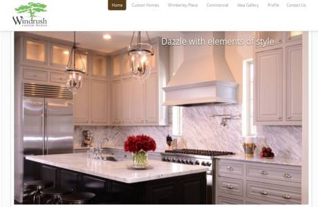 Windrush Custom Homes website home page